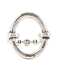Hoorsenbuhs - Metallic 'ss' Oval Ring - Lyst