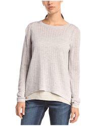 BOSS Orange - Gray 2-in-1-style Sweater 'ivettah' - Lyst