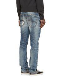 DIESEL - Blue Thavar Jeans for Men - Lyst