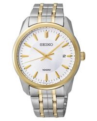 Seiko | Metallic Men's Two Tone Stainless Steel Bracelet 39mm Sgeg08 for Men | Lyst