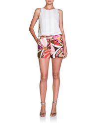 Emilio Pucci Multicolor Printed Cotton Shorts