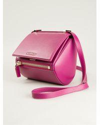 aa56bf3cd557 Givenchy Mini  pandora Box  Cross Body Bag in Pink - Lyst