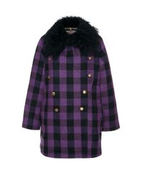 Etro | Multicolor Reversible Checked Pea Coat | Lyst