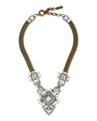 Auden - Metallic Ryder Chain & Crystal Necklace - Lyst