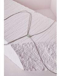 Missguided   Metallic Double Crossover Body Chain   Lyst