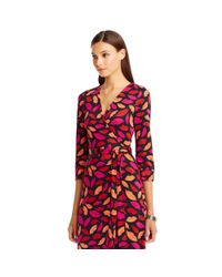 Diane von Furstenberg - Red New Julian Two Silk Jersey Wrap Dress - Lyst