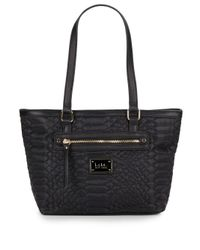 Nicole Miller | Black Sonya Quilted Tote & Umbrella Set | Lyst