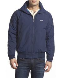 Patagonia | Blue 'synchilla' Dwr Shell Bomber Jacket for Men | Lyst