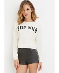 Forever 21 | Natural Stay Wild Graphic Jumper | Lyst