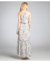 Madison Marcus - Gray Cultivate Floral Maxi Dress - Lyst
