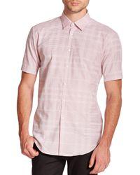 Burberry | Pink Melthorpe Cotton Sportshirt for Men | Lyst