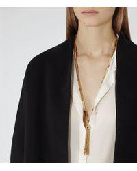Reiss Metallic Jaynie Tassel-detail Necklace