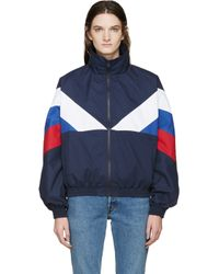 Gosha Rubchinskiy Blue Navy And Tricolor Sport Jacket