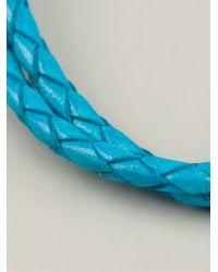 Tateossian | Blue Braided Bracelet for Men | Lyst