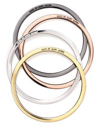 Marc By Marc Jacobs Metallic Disc Bangles Set Of 4