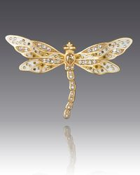 Jay Strongwater - Metallic Bejeweled Dragonfly Pin - Lyst