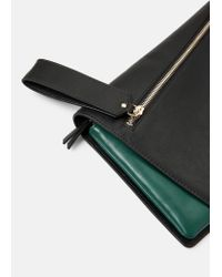 Violeta by Mango | Black Flap Clutch | Lyst