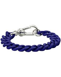 Marc By Marc Jacobs - Blue Key Items Rubber Chain Bracelet - Lyst