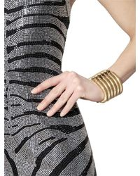 Balmain - Metallic Gold Plated Brass Bracelet - Lyst