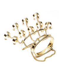 Eddie Borgo | Metallic Jacket Hand Piece Bracelet | Lyst