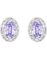 Swarovski | Purple Christie Earrings | Lyst