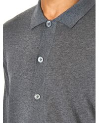 Acne Studios - Gray Clissold Merino-Wool Polo Sweater for Men - Lyst