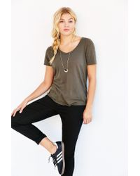 Truly Madly Deeply Gray Cindy Scoop Tee