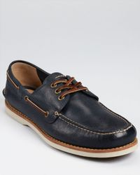Frye Blue Sully Boat Shoes for men
