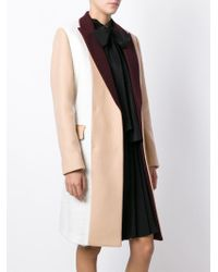 MSGM - Natural Contrasting Panels Coat - Lyst