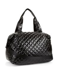 Steve Madden Black Diamond Quilted Dome Duffel