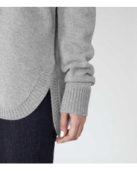 Reiss | Gray Rachelle Merino Wool Jumper | Lyst