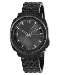 Vince Camuto | Black Textured Bezel Bracelet Watch for Men | Lyst