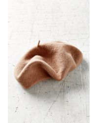 Urban Outfitters Brown Classic Wool Beret