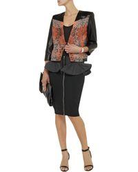 McQ Black Knitted Peplum Skirt