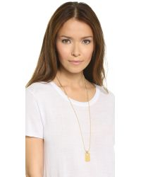 Rebecca Minkoff - Metallic Military Mix Dog Tag Necklace - Gold - Lyst