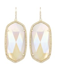 Kendra Scott - Metallic Large Pave-Trim Iridescent Agate Drop Earrings - Lyst