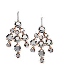 Fossil | Metallic Rose Goldtone Hematite Glass Chandelier Earrings | Lyst