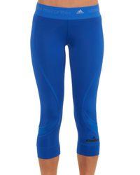 Adidas By Stella McCartney Blue Performance Three-Quarter Leggings