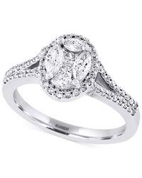 Effy Collection | Metallic Effy Diamond Engagement Ring (3/4 Ct. T.w.) In 14k White Gold | Lyst