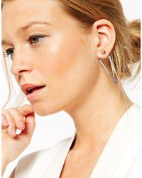 ASOS | Metallic Stud Earrings With Interchangeable Shape Swing Backs | Lyst