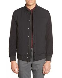 Vince Camuto - Black Quilted Bomber With Zip-off Sleeves for Men - Lyst