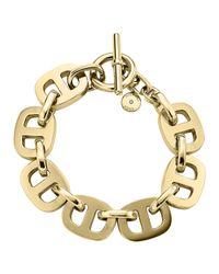 Michael Kors | Metallic Maritime Golden Toggle Bracelet | Lyst