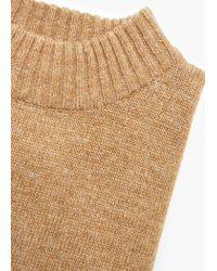 Mango - Brown Ribbed Wool-blend Sweater - Lyst