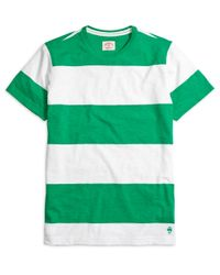 Brooks Brothers | Green Wide Stripe Tee Shirt for Men | Lyst