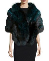 Gorski - Multicolor Fox Fur Stole W/leather - Lyst
