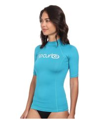 Rip Curl | Blue Surf Team Short Sleeve Rashguard | Lyst