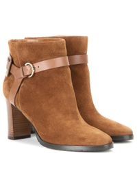 Jimmy Choo Brown Hose 80 Suede Ankle Boots