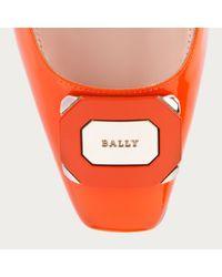 Bally Perla Women ́s Patent Leather Pumps In Blaze Orange