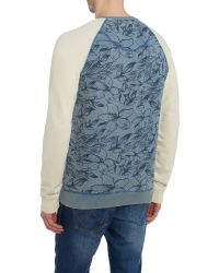 Blend | Blue Pattern Crew Neck Pull Over Jumpers for Men | Lyst