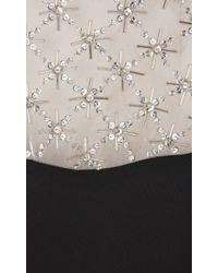 Temperley London - Black Long Trixie Lattice Fitted Dress - Lyst